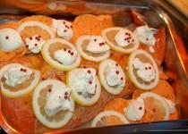 Lachsfilet mit Süßkartoffeln aus dem Ofen