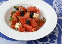 Wassermelonen-Salat mit Schafskäse