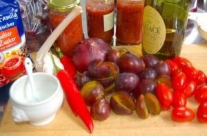 Zwetschgen-Tomaten-Chutney