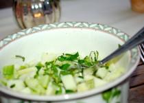 Apfel-Gurken-Minze Salat nach Lea Linster