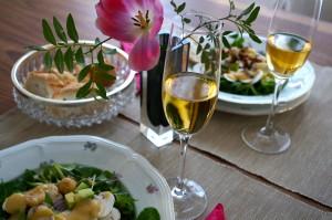Feldsalat an warmer Kartoffelvinaigrette