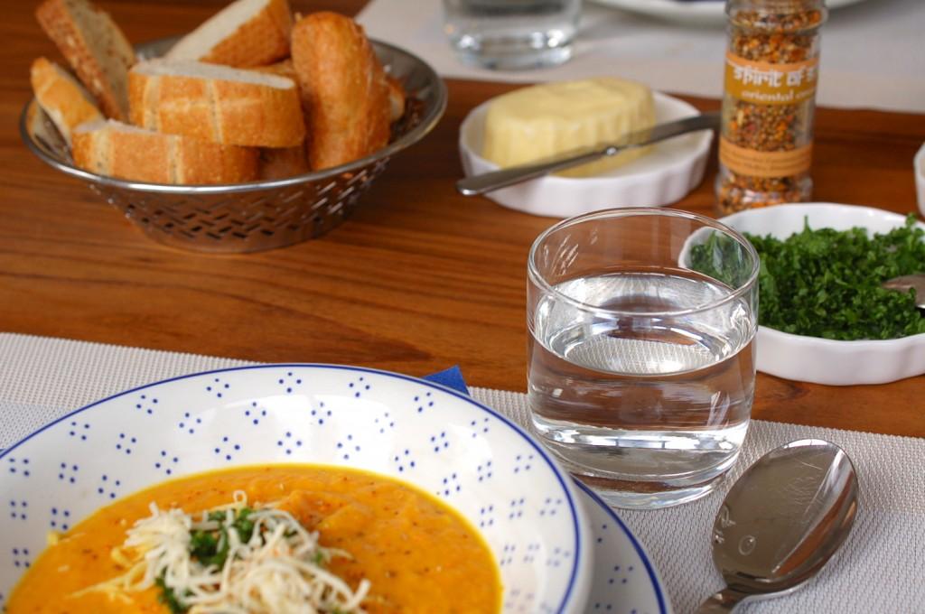 Möhren-Süßkartoffel Suppe