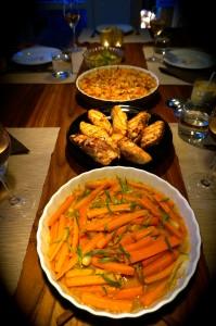 Menue orange Lachs