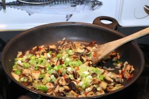 Kürbis gefüllt, Kochenkunstundketchup, Shiitake