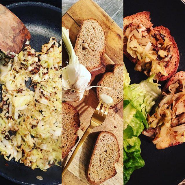 bruschetta mit spitzkohl knoblauch alio bestesolivenl soulfood vegetarianfood vegan easyfoodhellip