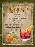 Negroni Metall Schild