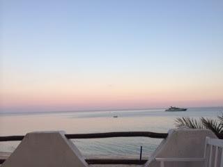 Abendstimmung Terrasse breit