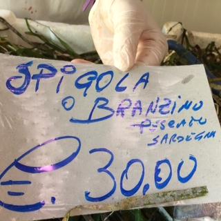Pricetag Spigola