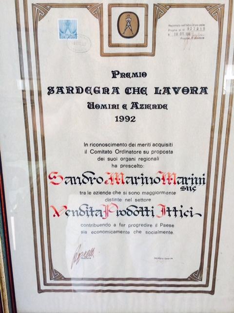 Sandro Marino Marini Diploma