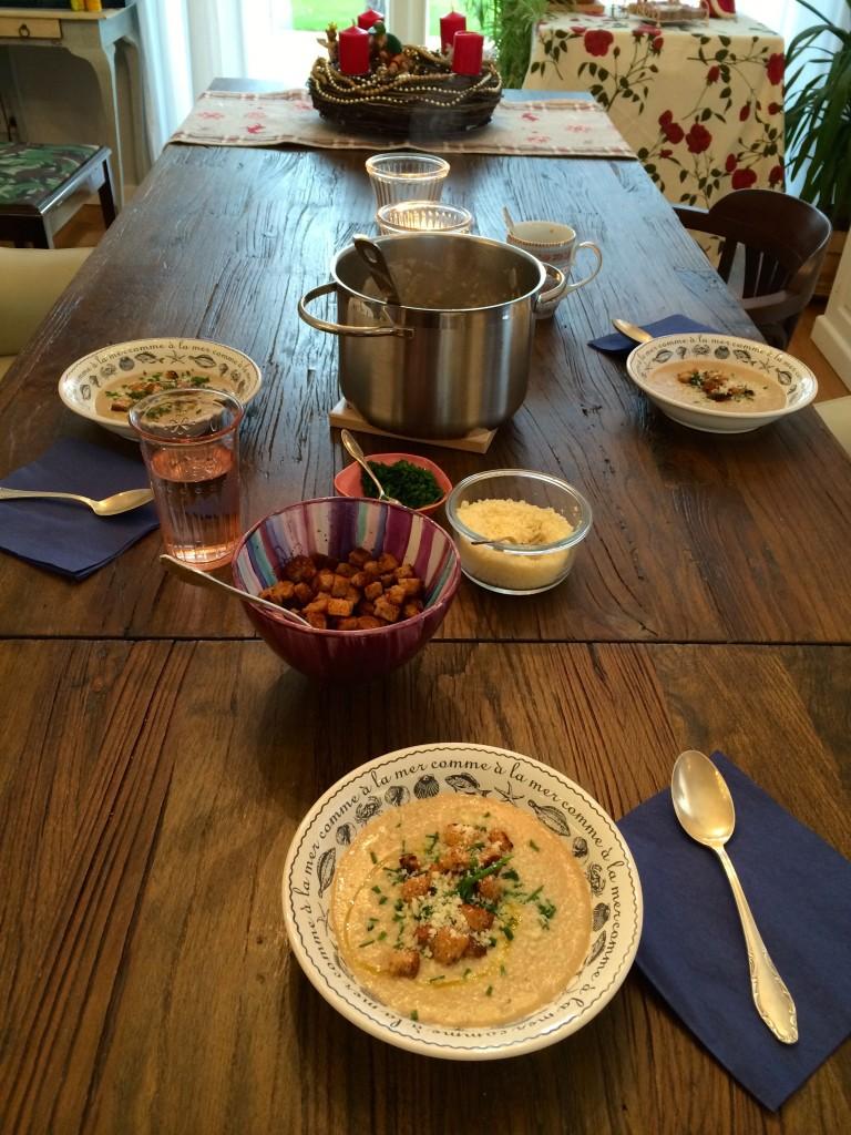 Maronen-Topinmabur-Suppe, Kochenkunstundketchup