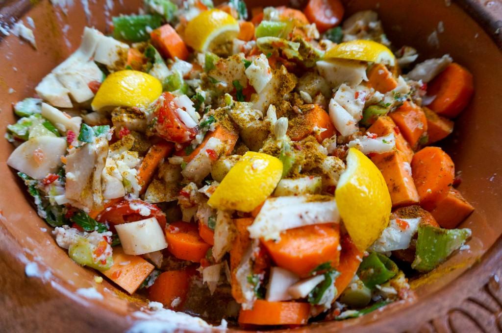 Curry aus dem Römertopf
