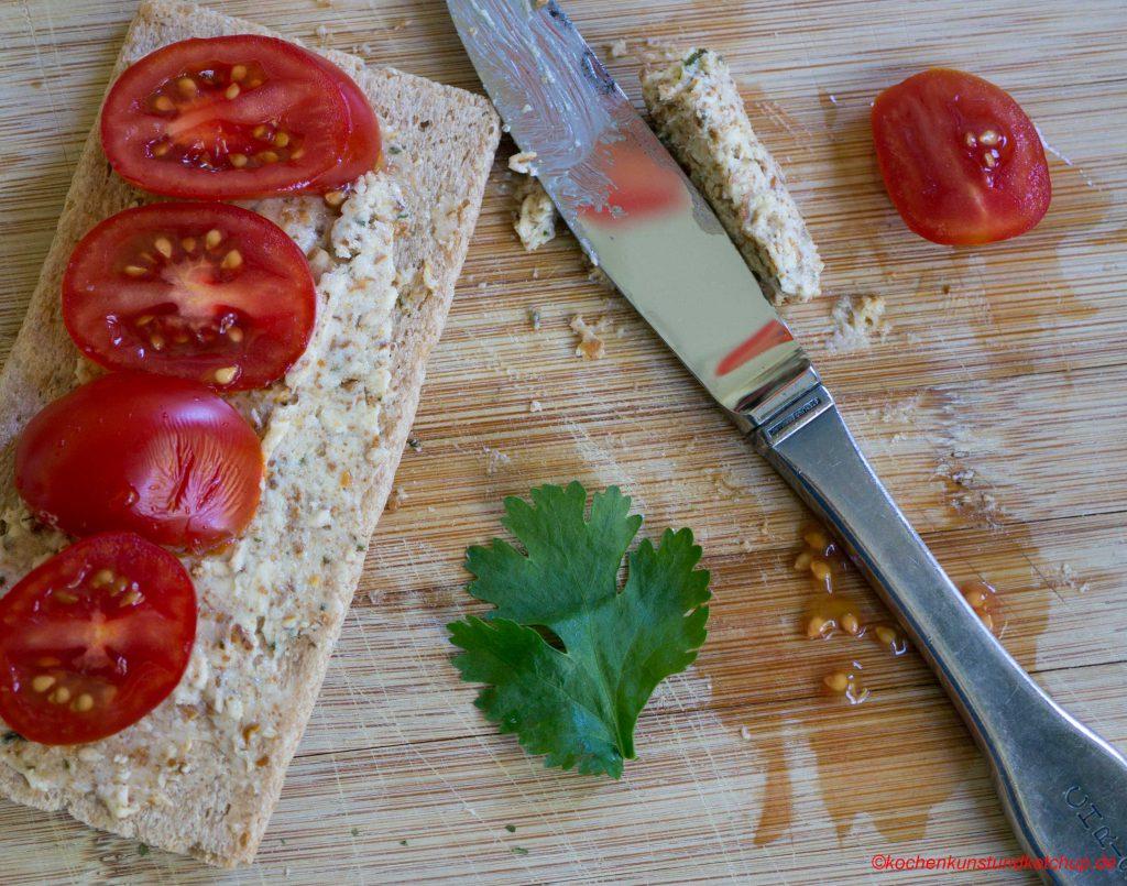Salzstangenbutter Tomatenbrot
