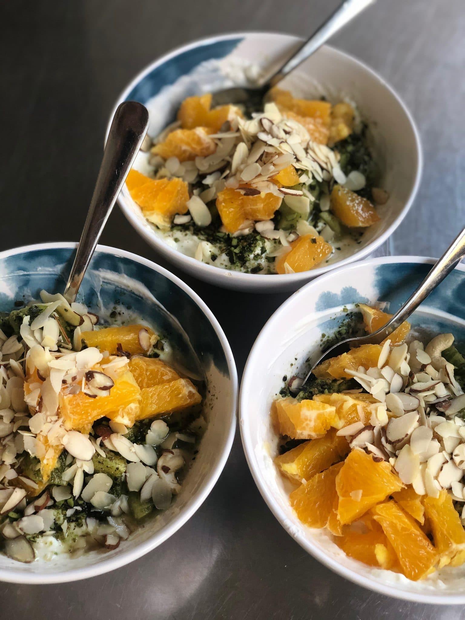Porridge mit Orangen